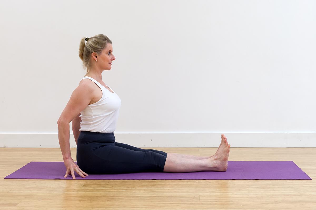 Urdhva Hastasana in Dandasana - My Yoga Tutor